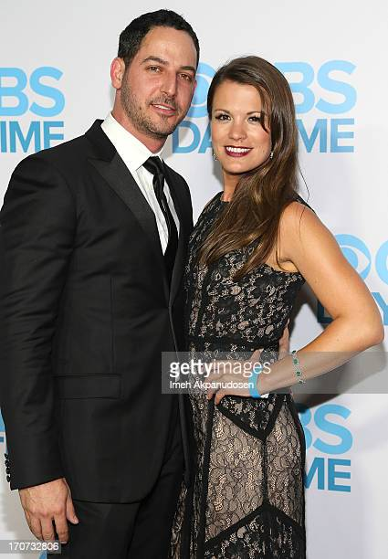 Actress Melissa Claire Egan and her fiance Matt Katrosar attend The 40th Annual Daytime Emmy Awards After Party at The Beverly Hilton Hotel on June...