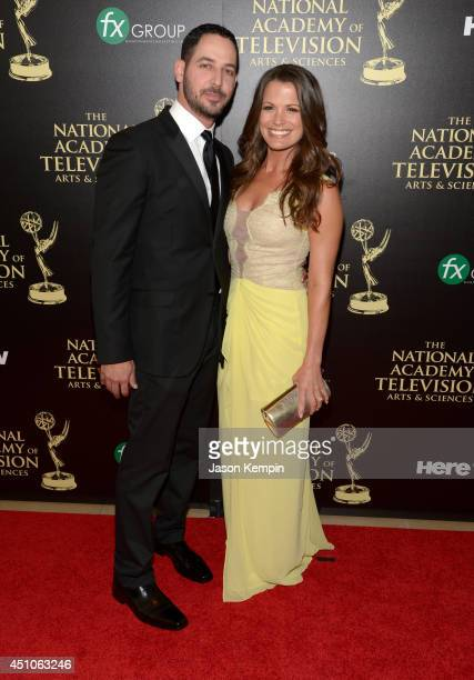 Actress Melissa Claire Egan and Matt Katrosar attend The 41st Annual Daytime Emmy Awards at The Beverly Hilton Hotel on June 22 2014 in Beverly Hills...