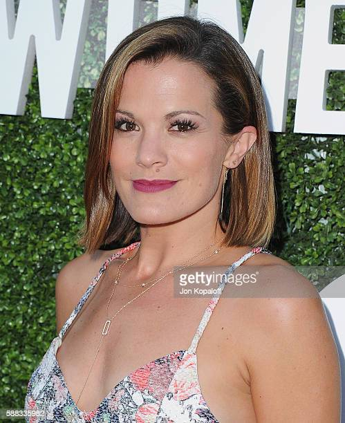 Actress Melissa Claire Egan arrives at CBS CW Showtime Summer TCA Party at Pacific Design Center on August 10 2016 in West Hollywood California