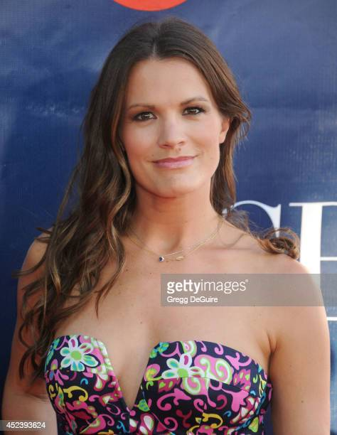 Actress Melissa Claire Egan arrives at the 2014 Television Critics Association Summer Press Tour CBS CW And Showtime Party at Pacific Design Center...