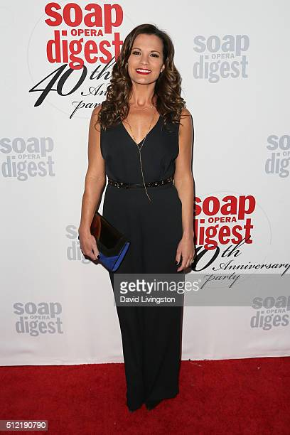 Actress Melissa Claire Egan arrives at the 40th Anniversary of the Soap Opera Digest at The Argyle on February 24 2016 in Hollywood California