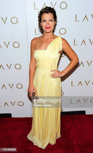 Actress Melissa Claire Egan arrives at the 'All My Children' Daytime Emmy Post Award Celebration at Lavo on June 27 2010 in Las Vegas Nevada