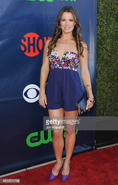 Actress Melissa Claire Egan arrives at the CBS The CW Showtime CBS Television Distribution 2014 Television Critics Association Summer Press Tour at...