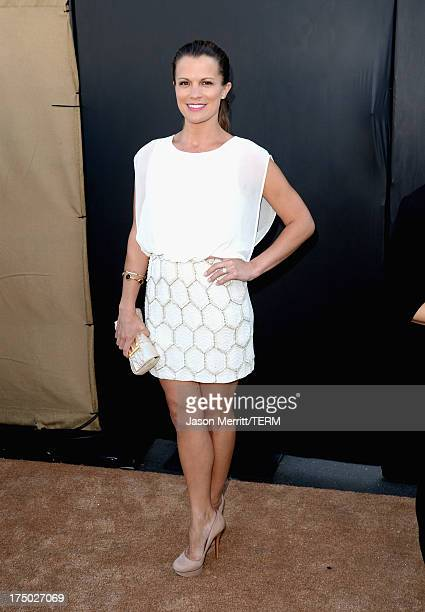 Actress Melissa Claire Egan arrives at the CW CBS and Showtime 2013 summer TCA party on July 29 2013 in Los Angeles California