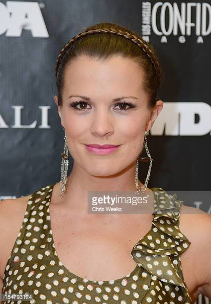 Actress Melissa Claire Egan attends an Evening In Honor Of The Muscular Dystrophy Association Canali at Canali Boutique on October 25 2012 in Beverly...