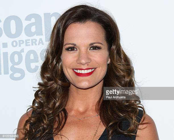 Actress Melissa Claire Egan attends Soap Opera Digest's 40th Anniversary celebration at The Argyle on February 24 2016 in Hollywood California