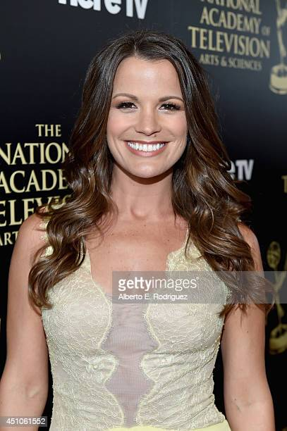 Actress Melissa Claire Egan attends The 41st Annual Daytime Emmy Awards at The Beverly Hilton Hotel on June 22 2014 in Beverly Hills California