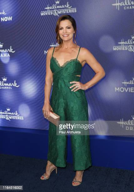 Actress Melissa Claire Egan attends the Hallmark Channel and Hallmark Movies Mysteries summer 2019 TCA press tour event at Private Residence on July...