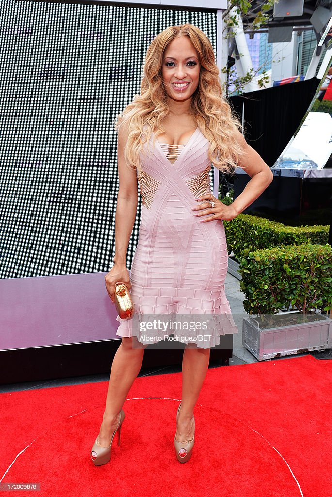 Actress Melissa De Sousa attends the P&G Red Carpet Style Stage at the 2013 BET Awards at Nokia Theatre L.A. Live on June 30, 2013 in Los Angeles, California.