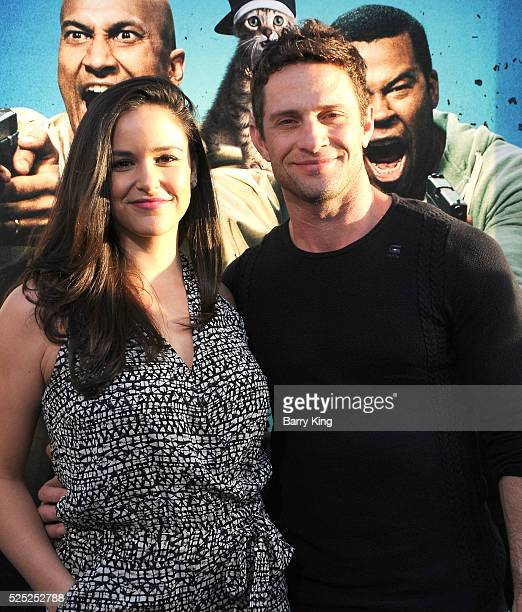 Actress Melissa Fumero and actor Dave Fumero attend the Warner Bros' premiere of 'Keanu' at ArcLight Cinemas Cinerama Dome on April 27 2016 in...