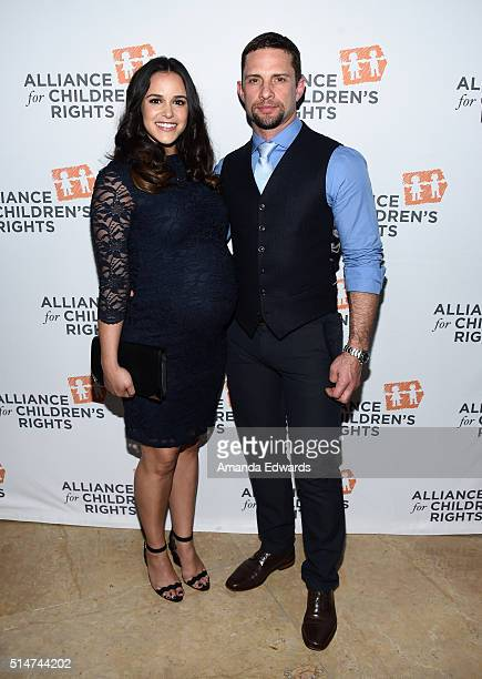 Actress Melissa Fumero and David Fumero arrive at the Alliance For Children's Rights' 24th Annual Dinner at The Beverly Hilton Hotel on March 10 2016...