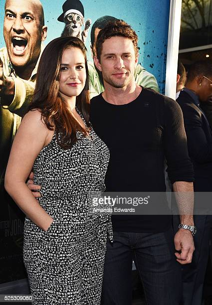 Actress Melissa Fumero and David Fumero arrive at the premiere of Warner Bros' Keanu at the ArcLight Cinemas Cinerama Dome on April 27 2016 in...