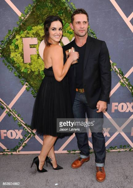 Actress Melissa Fumero and husband David Fumero attend the FOX Fall Party at Catch LA on September 25 2017 in West Hollywood California