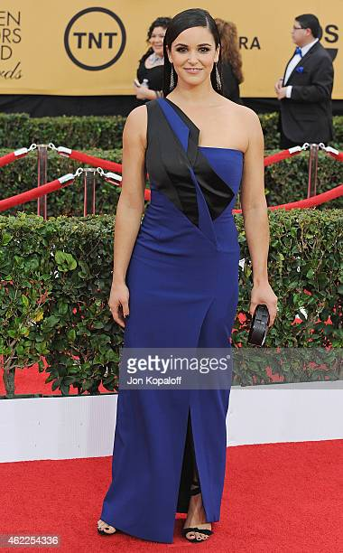 Actress Melissa Fumero arrives at the 21st Annual Screen Actors Guild Awards at The Shrine Auditorium on January 25 2015 in Los Angeles California