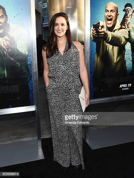 Actress Melissa Fumero arrives at the premiere of Warner Bros' Keanu at the ArcLight Cinemas Cinerama Dome on April 27 2016 in Hollywood California