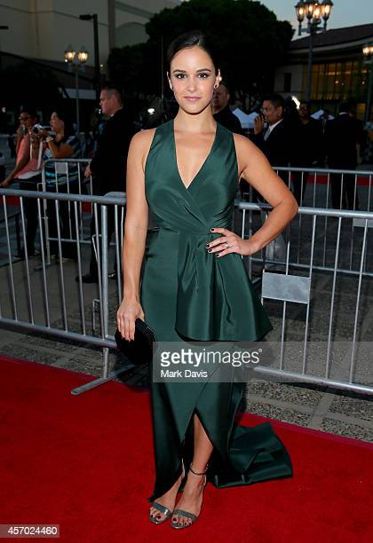 Actress Melissa Fumero attends the 2014 NCLR ALMA Awards at the Pasadena Civic Auditorium on October 10 2014 in Pasadena California