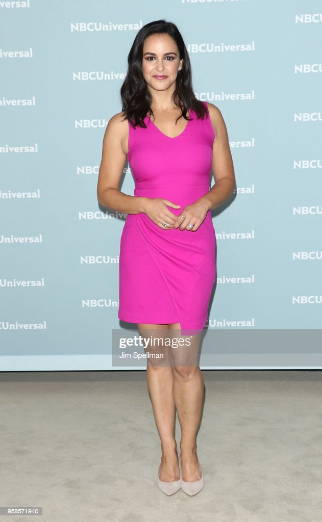 Actress Melissa Fumero attends the 2018 NBCUniversal Upfront presentation at Rockefeller Center on May 14, 2018 in New York City.