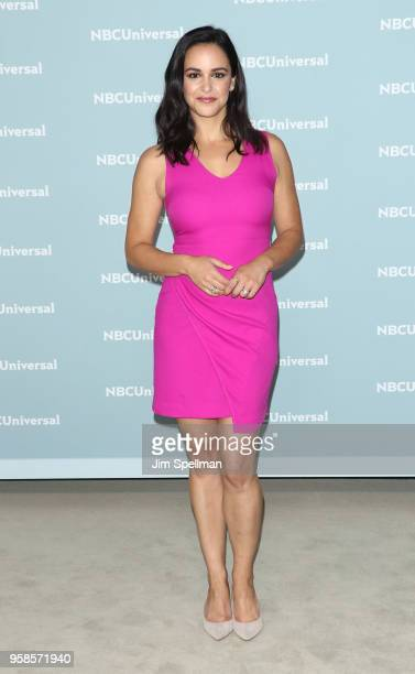 Actress Melissa Fumero attends the 2018 NBCUniversal Upfront presentation at Rockefeller Center on May 14 2018 in New York City