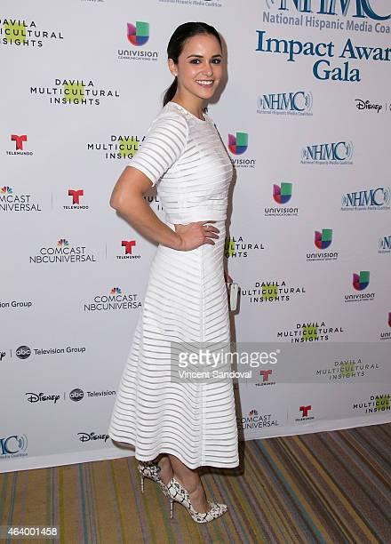 Actress Melissa Fumero attends the National Hispanic Media Coalition's Impact Awards gala at Regent Beverly Wilshire Hotel on February 20 2015 in...