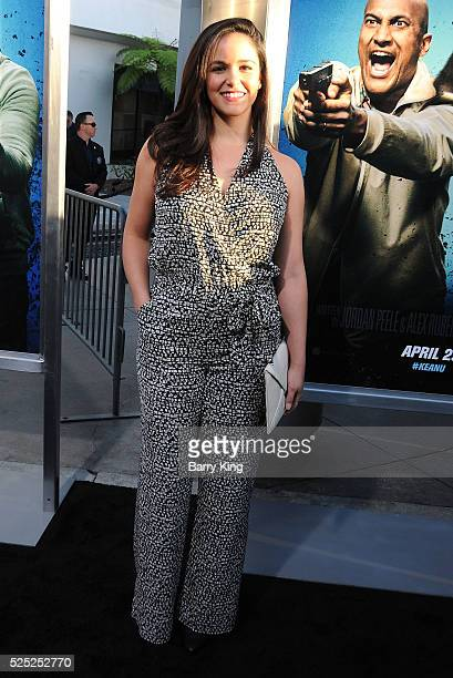 Actress Melissa Fumero attends the Warner Bros' premiere of 'Keanu' at ArcLight Cinemas Cinerama Dome on April 27 2016 in Hollywood California
