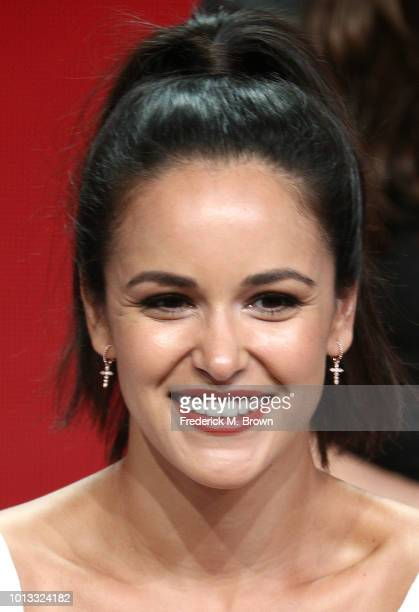 Actress Melissa Fumero of the television show 'Brooklyn NineNine' speaks during the NBC segment of the Television Critics Association Press Tour at...