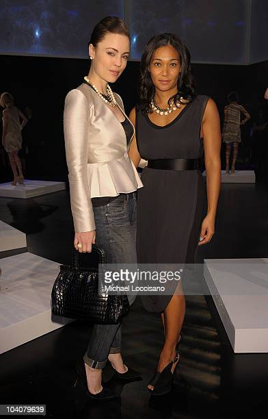 Actress Melissa George and designer Monique Pean attend the Monique Pean Spring 2011 fashion show during MercedesBenz Fashion Week at The Box at...