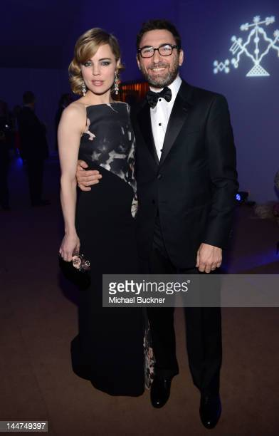 Actress Melissa George and JeanDavid Blanc attend the Haiti Carnival in Cannes Benefitting J/P HRO Artists for Peace and Justice Happy Hearts Fund...
