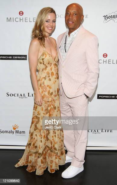 Actress Melissa George and Russell Simmons attend the Somaly Mam Foundation Social Life Magazine August issue release party at The Social Life Estate...