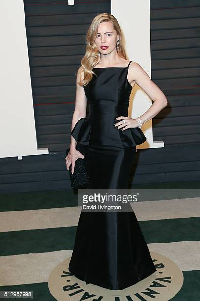 Actress Melissa George arrives at the 2016 Vanity Fair Oscar Party Hosted by Graydon Carter at the Wallis Annenberg Center for the Performing Arts on...