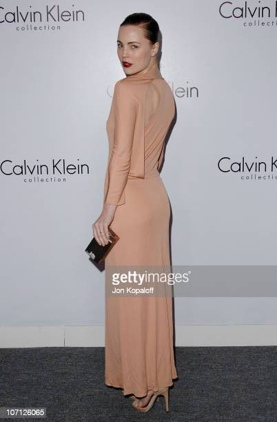 Actress Melissa George arrives to Calvin Klein Men's And Women's Spring 2010 Collections Preview Benefit on January 28 2010 in Los Angeles California