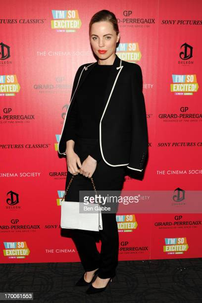 Actress Melissa George attends a screening of Sony Pictures Classics' 'I'm So Excited' hosted by GirardPerregaux and The Cinema Society with DeLeon...