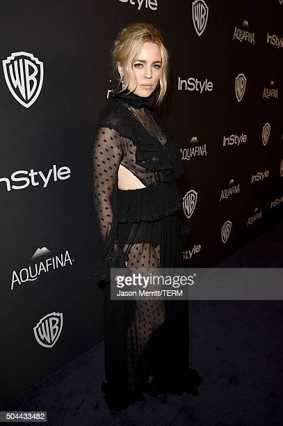 Actress Melissa George attends The 2016 InStyle And Warner Bros 73rd Annual Golden Globe Awards PostParty at The Beverly Hilton Hotel on January 10...