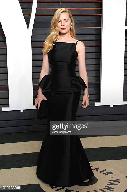 Actress Melissa George attends the 2016 Vanity Fair Oscar Party hosted By Graydon Carter at Wallis Annenberg Center for the Performing Arts on...