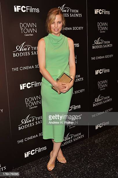 Actress Melissa George attends the Downtown Calvin Klein with The Cinema Society screening of IFC Films' Ain't Them Bodies Saints at the Museum of...