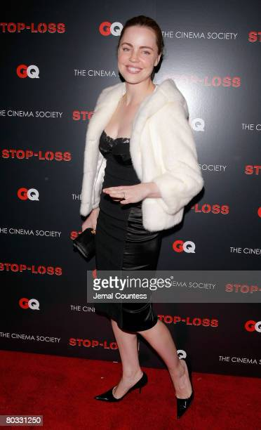 Actress Melissa George attends the New York Premiere screening of StopLoss hosted by The Cinema Society and GQ at the IFC Center on March 20 2008 in...