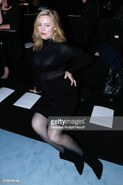 Actress Melissa George attends the Nina Ricci show as part of the Paris Fashion Week Womenswear Fall/Winter 20142015 on February 27 2014 in Paris...