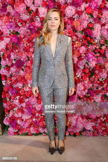 Actress Melissa George attends the Schiaparelli Haute Couture Fall Winter 2018/2019 Photocall as part of Paris Fashion Week on July 2 2018 in Paris...