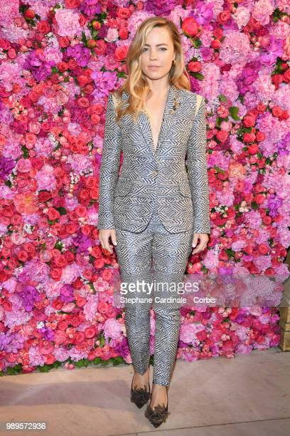 Actress Melissa George attends the Schiaparelli Haute Couture Fall/Winter 20182019 show as part of Haute Couture Paris Fashion Week on July 2 2018 in...