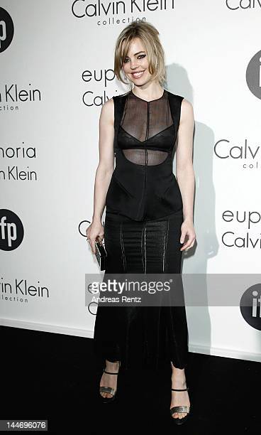 Actress Melissa George attends Women In Film celebration with IFP Calvin Klein Collection euphoria Calvin Klein at the 65th Cannes Film Festival at...
