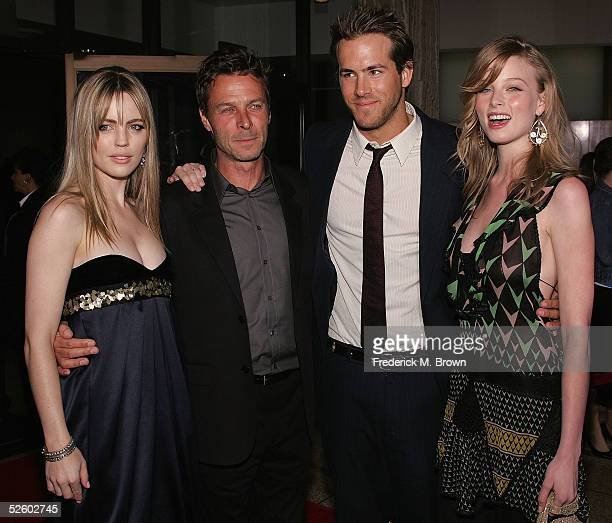 Actress Melissa George director Andrew Douglas actor Ryan Reynolds and actress Rachel Nichols attend the film premiere of The Amityville Horror at...