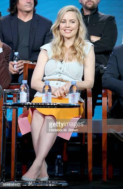 Actress Melissa George speaks onstage during the 'Heartbeat' panel discussion at the NBCUniversal portion of the 2015 Winter TCA Tour at Langham...