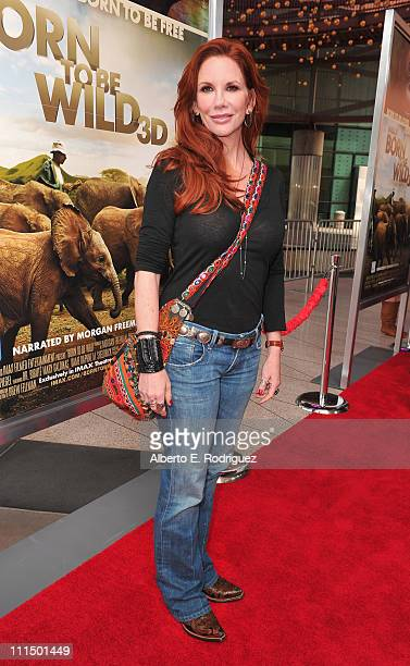 Actress Melissa Gilbbert arrives to the premiere of Warner Bros Pictures' Born To Be Wild 3D at the California Science Center on April 3 2011 in Los...