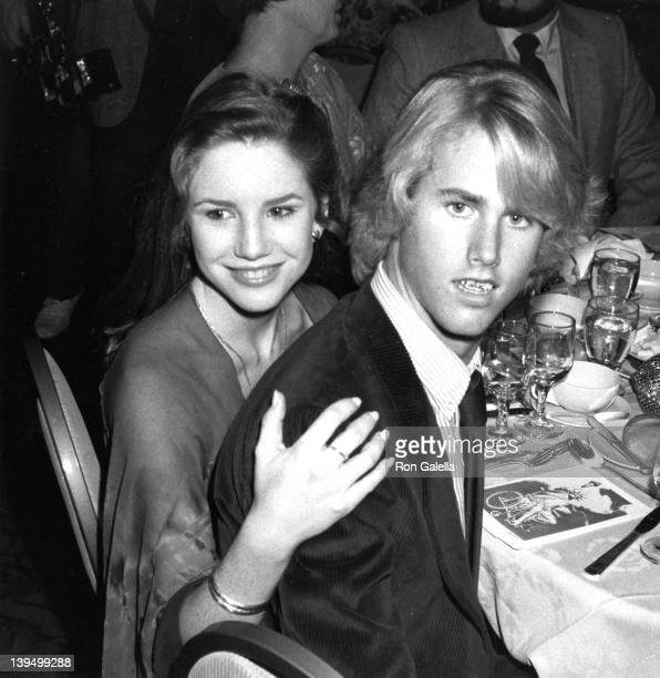 Actress Melissa Gilbert and actor Michael Landon Jr attend Third Annual Media Awards Gala Changing Attitudes on January 22 1981 at the Beverly Hilton...