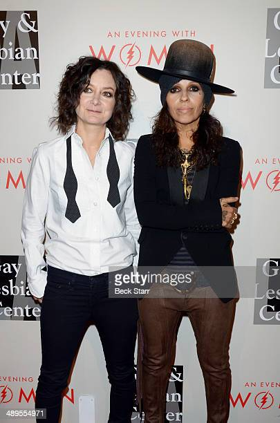 Actress Melissa Gilbert and wife musician Linda Perry arrive at The LA Gay Lesbian Center's Annual An Evening With Women at The Beverly Hilton Hotel...