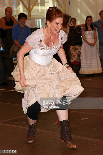 Actress Melissa Gilbert attends a rehearsal for the National Tour of Little House on the Prairie The Musical at The New 42nd Street Studios on...