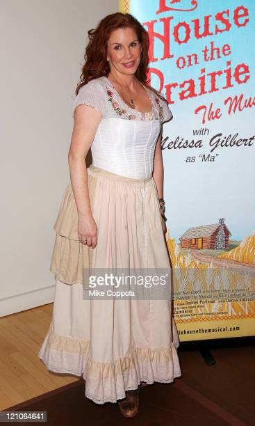 Actress Melissa Gilbert attends a rehearsal for the National Tour of 'Little House on the Prairie The Musical' at The New 42nd Street Studios on...