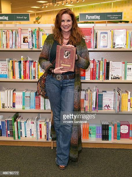Actress Melissa Gilbert signs and discusses her new book My Prairie Cookbook at Barnes Noble bookstore at The Grove on March 18 2015 in Los Angeles...