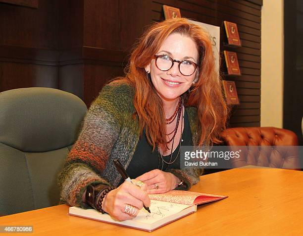"Actress Melissa Gilbert signs copies of her book ""My Prairie Cookbook"" at Barnes & Noble bookstore at The Grove on March 18, 2015 in Los Angeles,..."