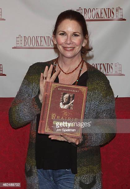 """Actress Melissa Gilbert signs copies of her new book """"My Prairie Cookbook"""" at Bookends Bookstore on January 29, 2015 in Ridgewood, New Jersey."""
