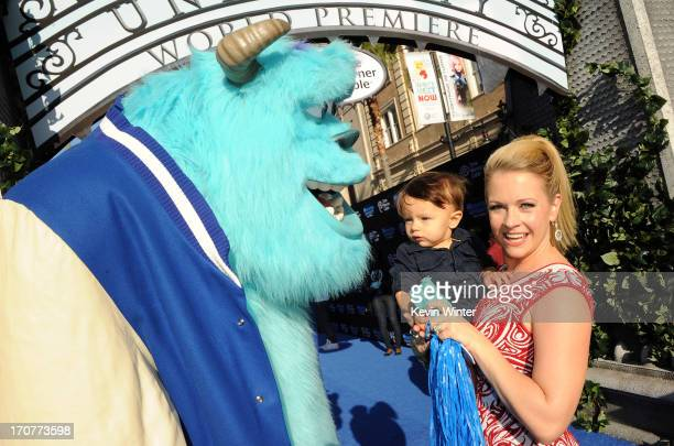 """Actress Melissa Joan Hart and son Tucker attend the world premiere of Disney Pixar's """"Monsters University"""" at the El Capitan Theatre on June 17, 2013..."""